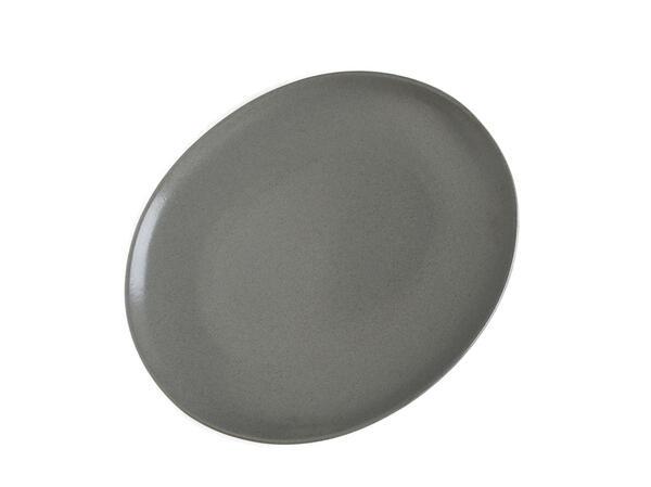 ナチュラルでスタイリッシュ ニュアンスのあるグレイ リンドスタイメスト slate スレート スピード対応 アウトレットセール 特集 全国送料無料 灰色 グレー ディナープレート ディナー皿 オーバル皿 30cm 楕円長皿