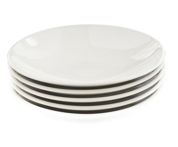 アメリカの著名なデザイナーによるデザイン 4枚セット■リンドスタイメスト■ペールホワイト 艶のある 激安超特価 暖かみのある白色 パン皿 デザート皿 まるい [再販ご予約限定送料無料] 取り皿