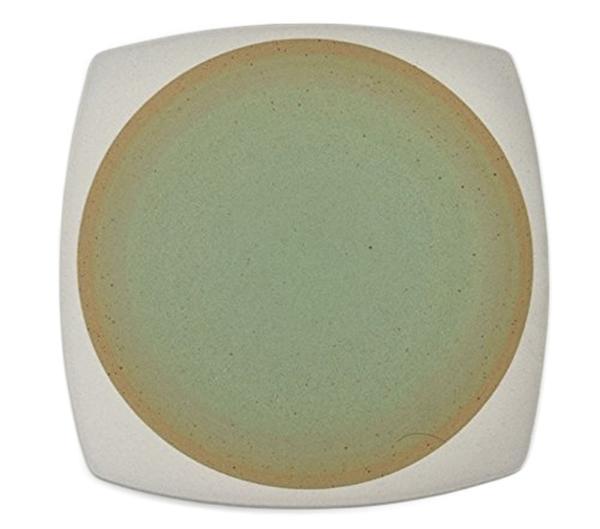 JUDITH KRUGERデザイン 2020 新作 earthenwareアースウェアー 和テイスト無釉 四角のお皿 グリーン色 激安価格と即納で通信販売 丸四角のサラダプレート