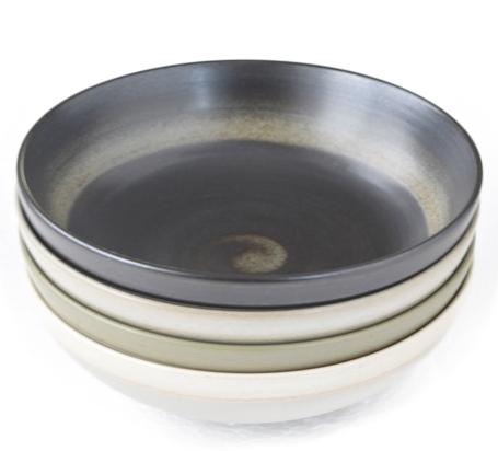 JUDITH KRUGERデザイン 4色4個セット earthenwareアースウェアー 和テイスト無釉 灰 カラー食器 スープボール 白 ショッピング 黒 緑 付与