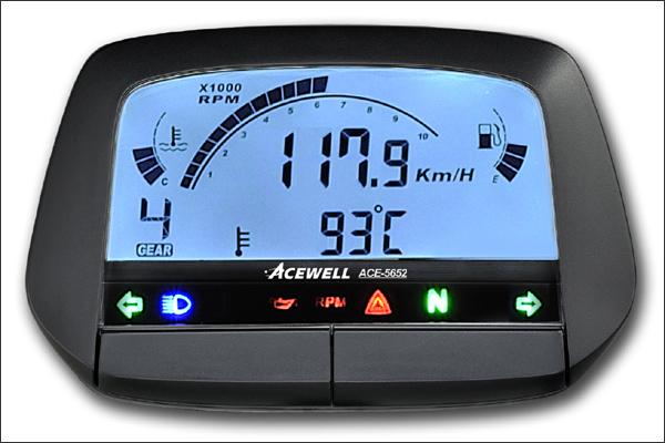 ACEWELL 多機能デジタルメーター ブラック(ACE-5652タイプ) ACE-5652B