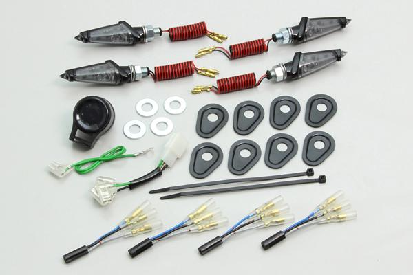 HURRICANE LEDダガーウインカーkit (ブラックボディ/スモークレンズ)/MT-09 TRACER・MT-07 HA5228BS