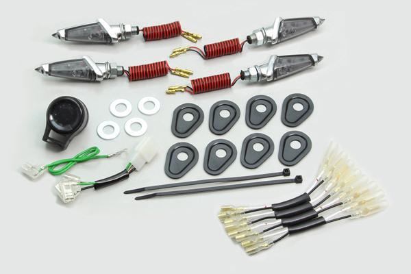 HURRICANE LEDダガーウインカーkit (メッキボディ/スモーククレンズ)/MT-09 TRACER・MT-07 HA5228MS