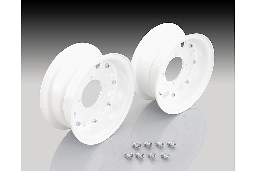 KITACO 8インチ アルミホイールSET ホワイト(ワイド)/モンキー・ゴリラ 509-1137580
