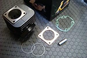 KN企画 ボアアップキット(70.9cc) HONDA 横型エンジン/ライブDIO・ライブDIO-ZX H1011