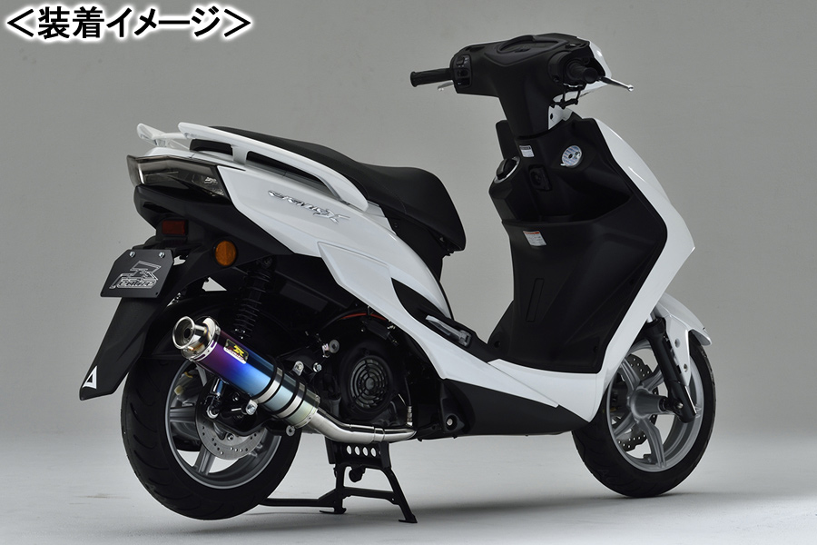 REALIZE 22Racing Ti(22レーシング チタン) マフラー/シグナスX-SR[EBJ-SEA5J/E3T5E] 340-009-01