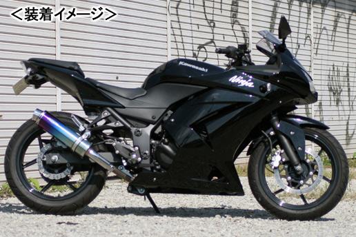 REALIZE Aria Ti TypeS(チタン) マフラー/Ninja250R[JBK-EX250K] 507-SO-001-02