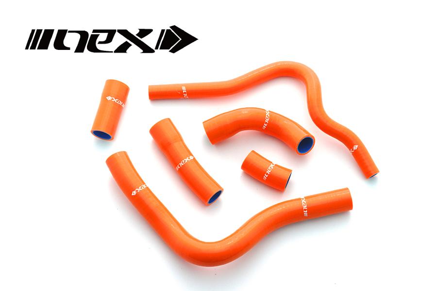NEX Performance CBR600RR 07-17年 NEX シリコンラジエターホースキット オレンジ SH-HD514OR