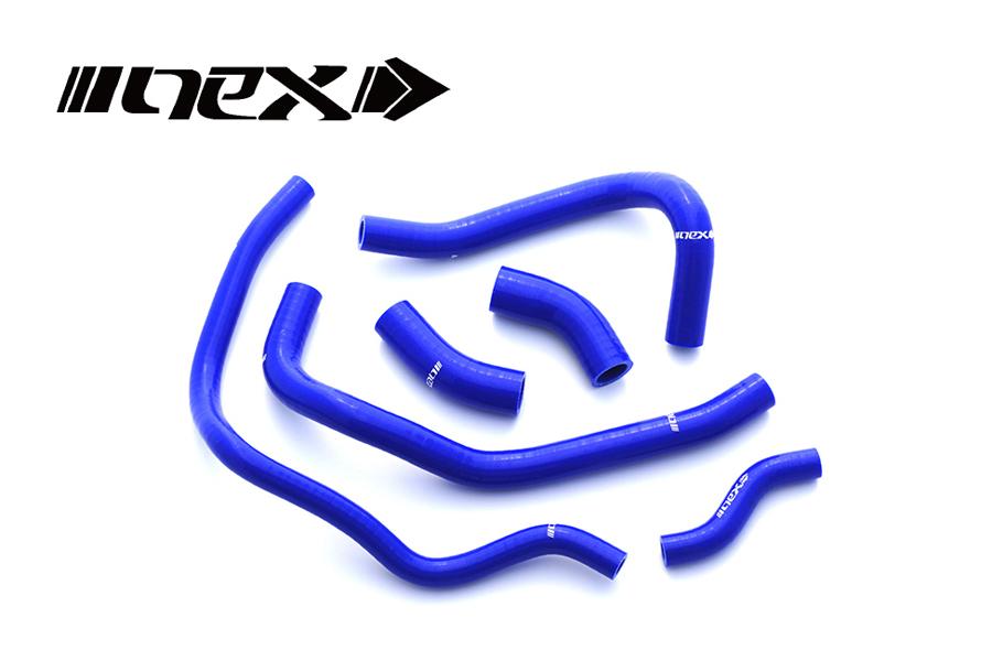 NEX Performance GSX1300R隼 99-07年 NEX シリコンラジエターホースキット ブルー SH-SU504BL