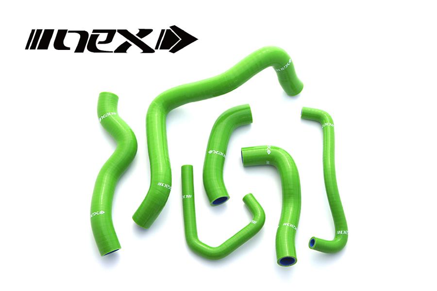 NEX Performance ZX-6R 07-08年 NEX シリコンラジエターホースキット グリーン SH-KW520GR