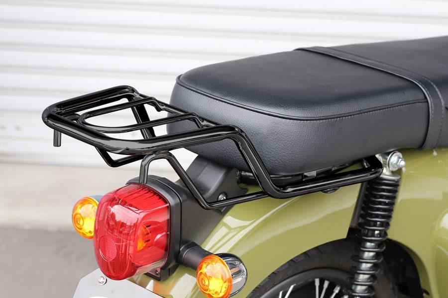 KIJIMA スーパーカブ110・クロスカブ110 リアキャリア ダブルシート用(ブラック) 210-2681