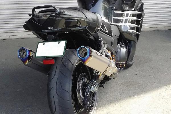BEET Ninja ZX-14R ABS [ZXT40H・ZXT40J] (16年~) NASAAERT Evolution Type2 T-2 スリップオンマフラー(ブルーチタン仕様) 0222-KD3-BL
