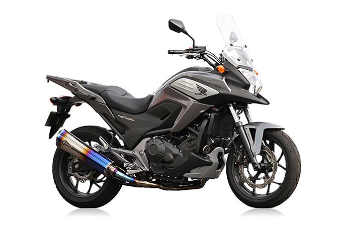 r's gear NC700X/S・750X/S(-15年)・INTEGRA リアルスペック シングル チタンドラッグブルー RH20-01RD