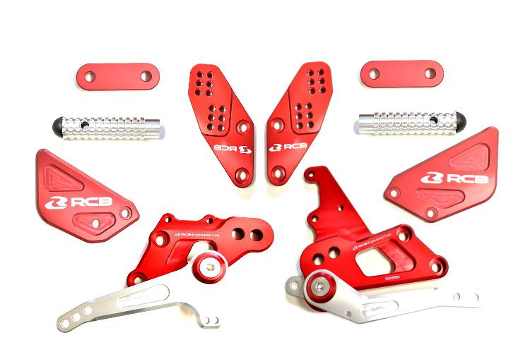 KN企画 GSX-S150・GSX-R150 RCB アルミバックステップ S2シリーズ(レッド) 01FR022R