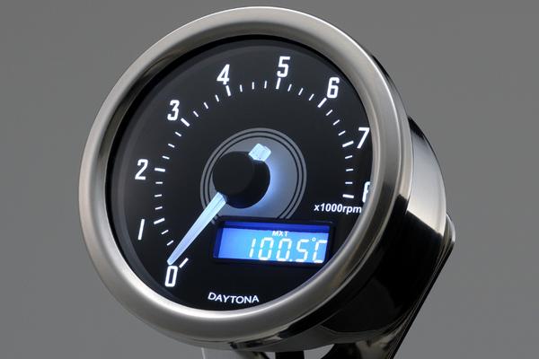 DAYTONA VELONA 電気式タコメーター 8000rpm(バフボディ/ホワイトLED) 92252