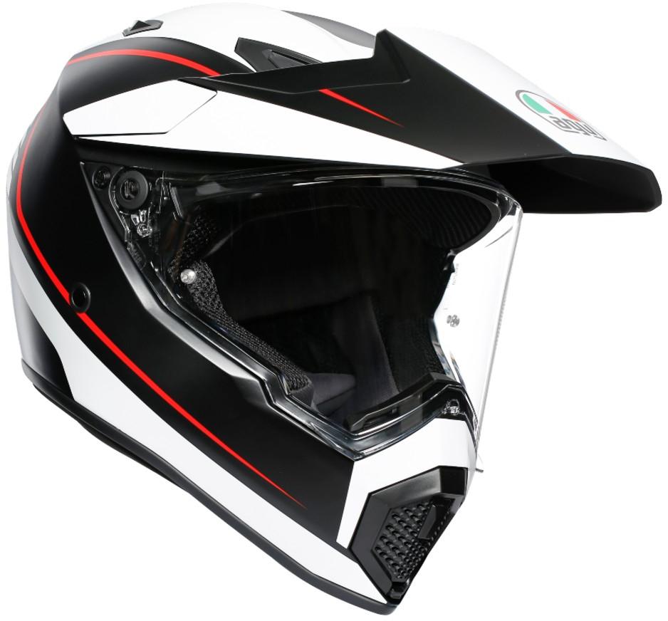 AGV(エージーブイ) バイク用ヘルメット オフロード AX9 PACIFIC ROAD M.BLACK/WHITE/RED (パシフィックロード マットブラック/ホワイト/レッド) Lサイズ (59-60cm)763192LY-001-L