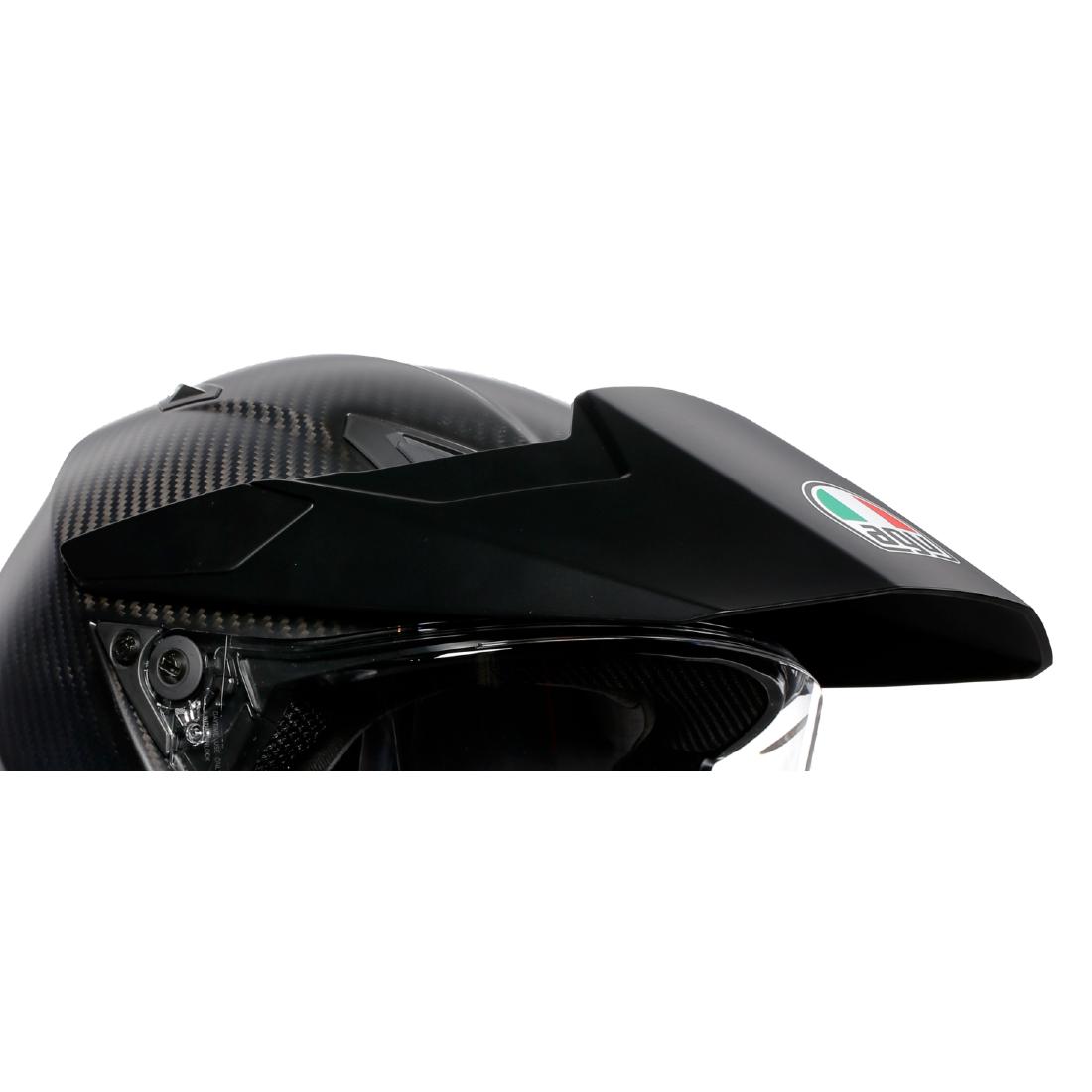 AGV(エージーブイ) ヘルメットパーツ バイザー AX9用 KIT PEAK + COVER + SCR AX9 (ピーク・カバー・スクリューセット) マットブラック KIT76324-001-N