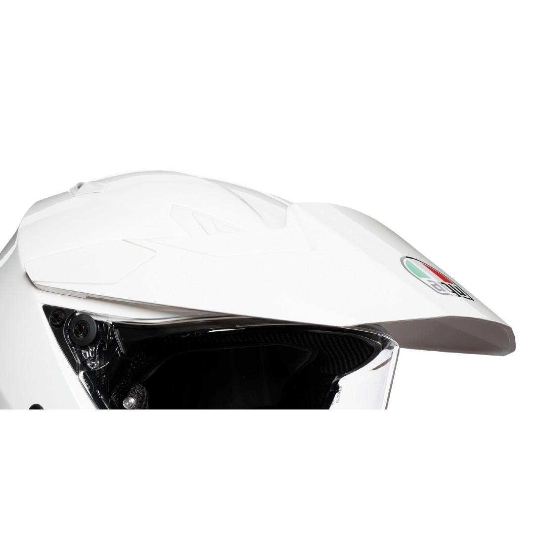 AGV(エージーブイ) ヘルメットパーツ バイザー AX9用 KIT PEAK + COVER + SCR AX9 (ピーク・カバー・スクリューセット) ホワイト KIT76324-002-N