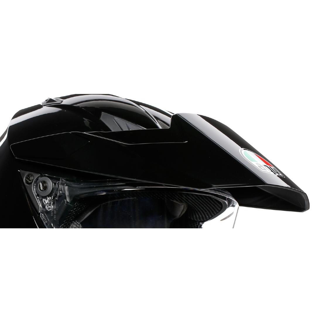 AGV(エージーブイ) ヘルメットパーツ バイザー AX9用 KIT PEAK + COVER + SCR AX9 (ピーク・カバー・スクリューセット) ブラック KIT76324-003-N