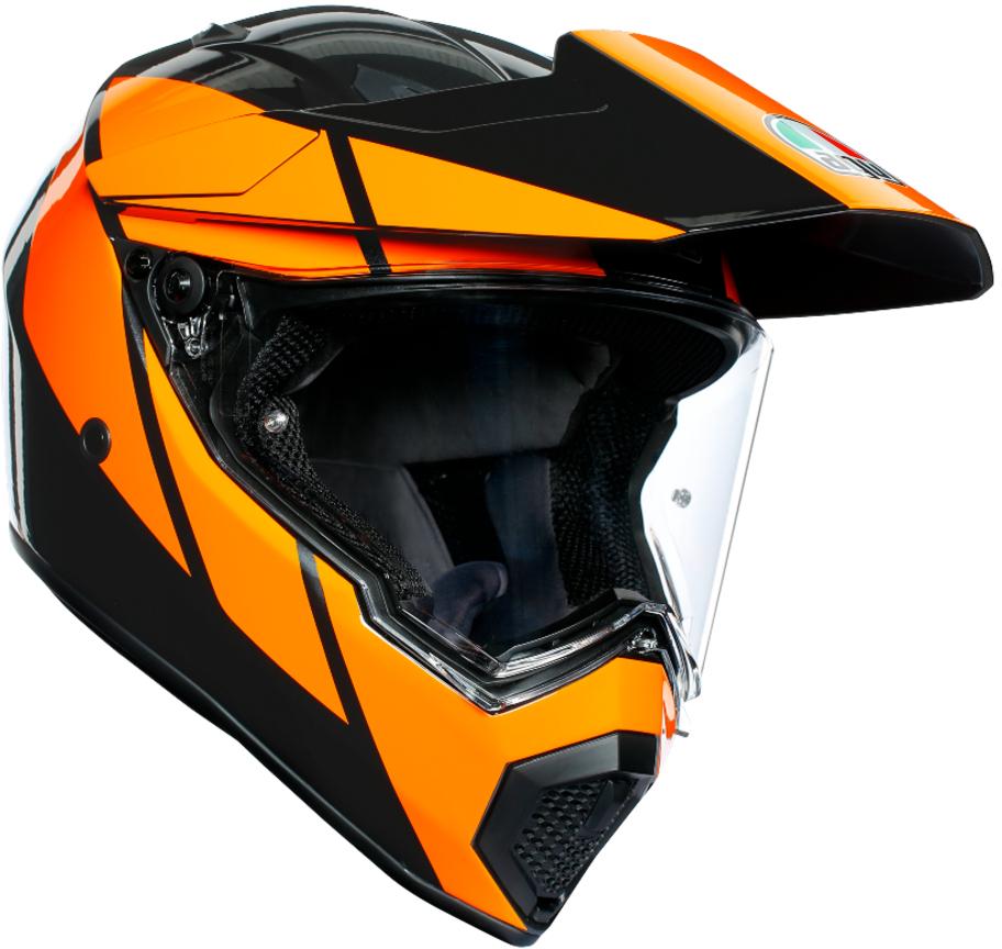AGV(エージーブイ) バイク用ヘルメット オフロード AX9 TRAIL GUNMETAL/ORANGE (トレイル ガンメタル/オレンジ) MSサイズ (57-58cm) 763192LY005-MS