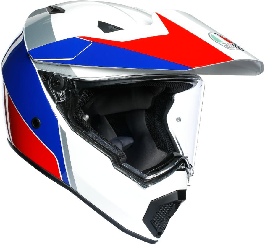 AGV(エージーブイ) バイク用ヘルメット オフロード AX9 ATLANTE WHITE/BLUE/RED (アトランテ ホワイト/ブルー/レッド) XLサイズ (61-62cm)763192LY006-XL