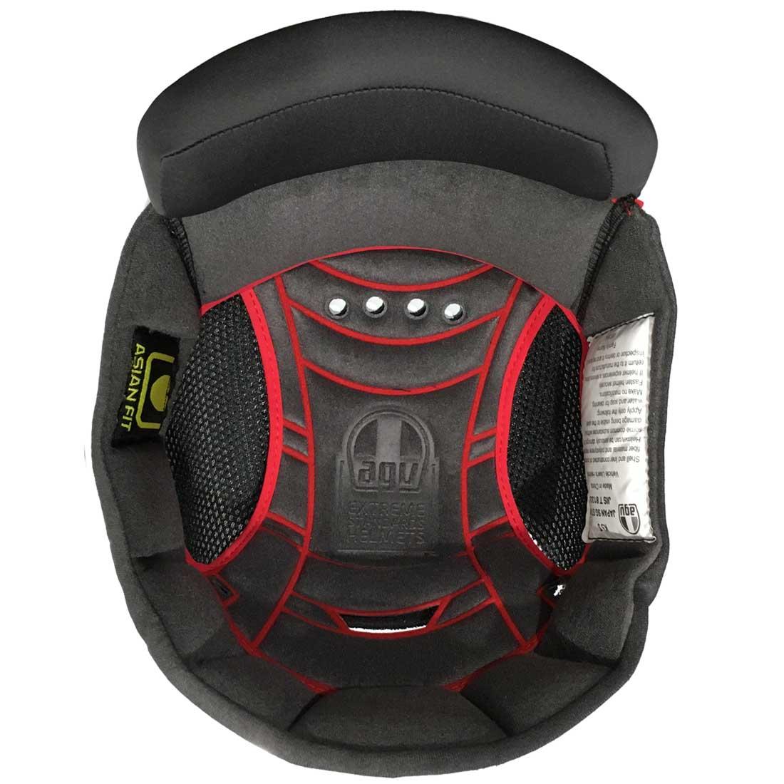 AGV(エージーブイ) ヘルメットパーツ 内装 K-5 S用 TOP PAD K-5 S Asia Fit (トップパッド) XLサイズ KIT0045599910
