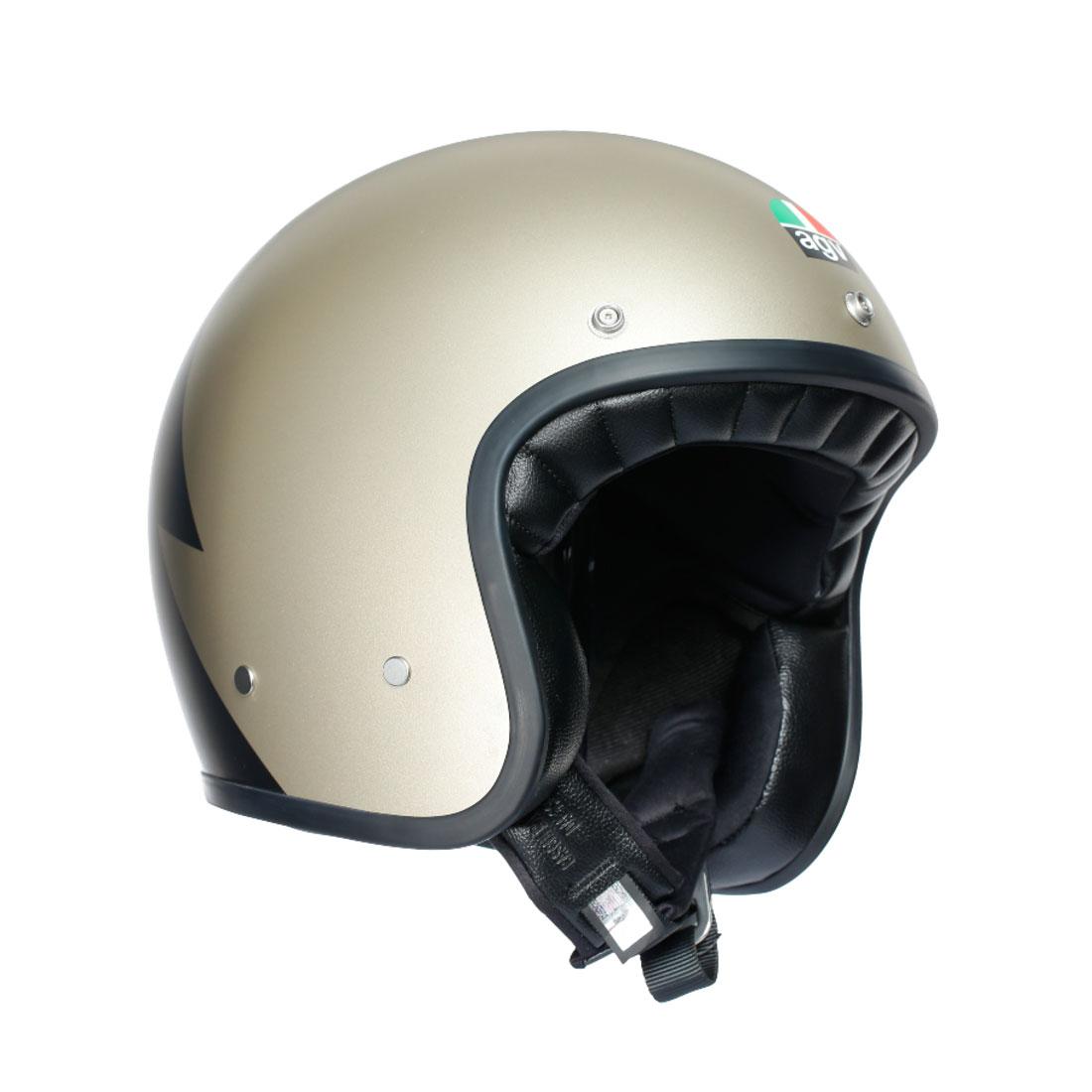 AGV(エージーブイ) バイク用ヘルメット ジェット LEGENDS X70 / VOLT CHAMPAGNE BLACK (ボルト シャンパン ブラック) XLサイズ (61-62cm) 002192I0010-XL