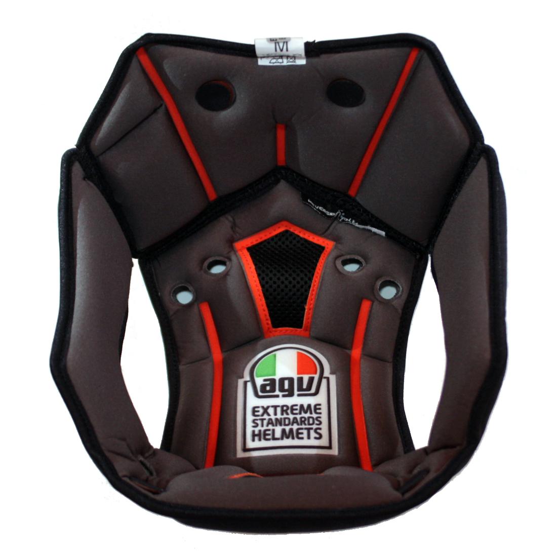AGV 今季も再入荷 エージーブイ ヘルメットパーツ 内装 CORSA R用 コルサ 店 TOP ASIA KIT6023700107 R FIT ブラック Mサイズ トップパッド PAD