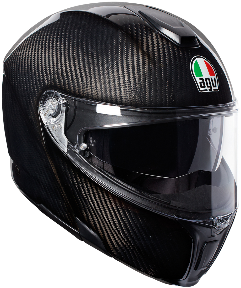 AGV(エージーブイ) バイク用ヘルメット システム SPORTMODULAR (スポーツモジュラー) GLOSSY CARBON (グロッシー カーボン) Sサイズ (55-56cm) 120194I0002-S
