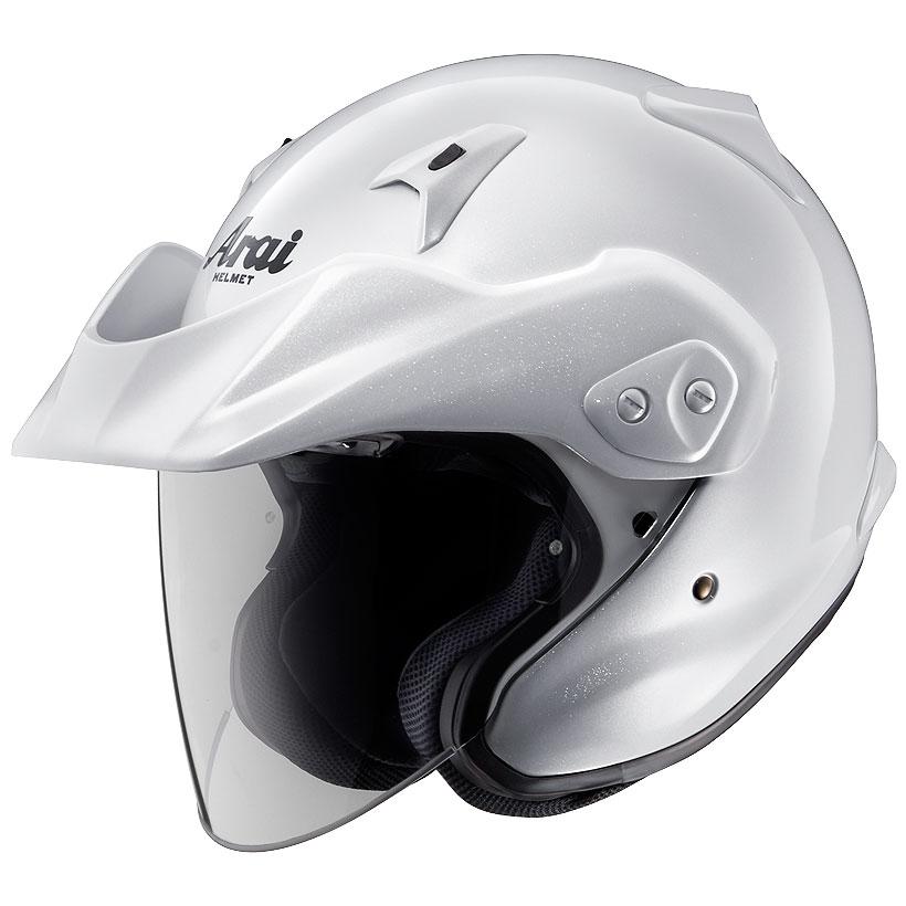 ARAI アライ ジェットヘルメット CT-Z (シーティーゼット) グラスホワイト Mサイズ 57-58cm