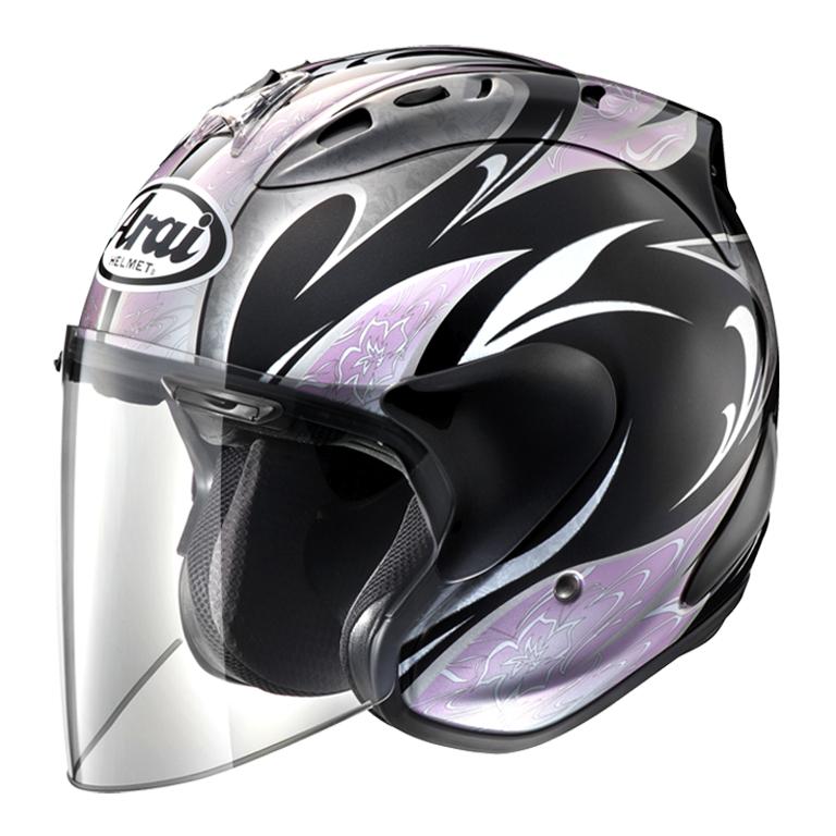 ARAI ジェットヘルメット SZ-RAM4 KAREN (カレン) ブラック/ピンク XSサイズ 54cm