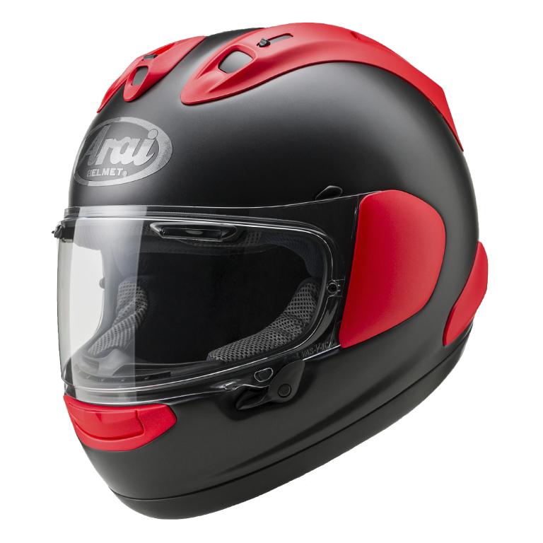【動画あり】 ARAI フルフェイスヘルメット RX-7X フラットブラック/レッド XLサイズ 61-62cm