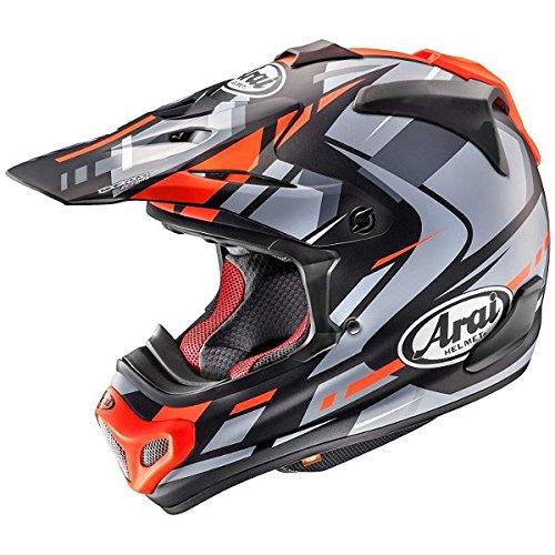【動画あり】 ARAI オフロードヘルメット V-CROSS 4 BOGLE (ボーグル) レッド Lサイズ 59-60cm