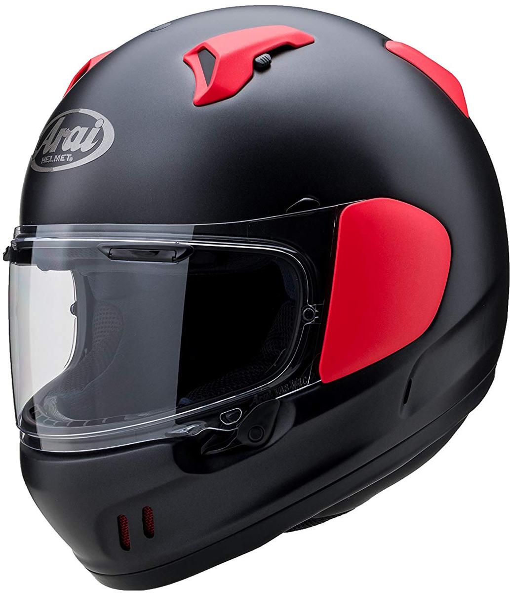 ARAI フルフェイスヘルメット XD フラットブラック/レッド Lサイズ 59-60cm