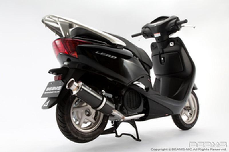 BEAMS (ビームス) バイク用 マフラー リード110FI 後期モデル EBJ - JF19 フルエキ フルエキゾースト SS 300 カーボン B141-08-000
