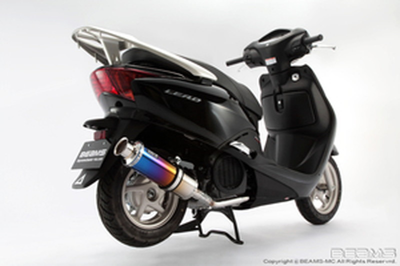 BEAMS (ビームス) バイク用 マフラー リード110FI 後期モデル EBJ - JF19 フルエキ フルエキゾースト SS 300 チタン B141-09-000