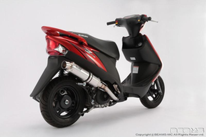 BEAMS (ビームス) バイク用 マフラー ADDRESS V125台湾 UZ125X フルエキ フルエキゾースト R-EVO ステンレスサイレンサー B317-53-008