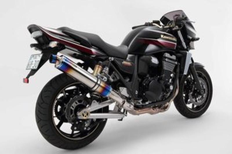 BEAMS (ビームス) バイク用 マフラー ZRX1200DAEG '09~ R-EVO スリップオン ヒートチチタン セイフニンショウ 22年騒音規制対応 G406-53-P1J