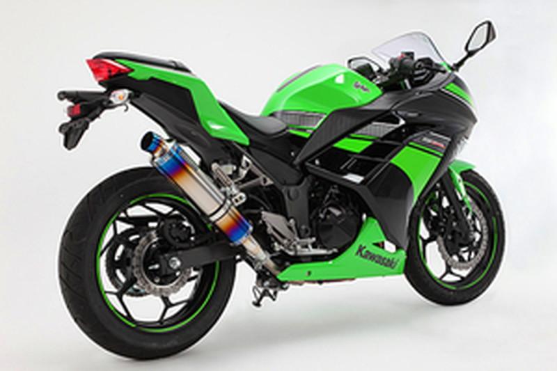 BEAMS (ビームス) バイク用 マフラー Ninja250 '13~'17 R-EVO スリップオン ヒートチタンサイレンサー 政府認証 22年騒音規制対応 G415-53-P1J