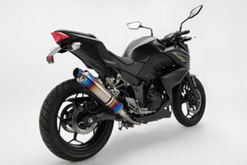 R-EVO BEAMS G416-53-P1J バイク用 22年騒音規制対応 (ビームス) Z250 (ヒートチタンサイレンサー) マフラー スリップオン