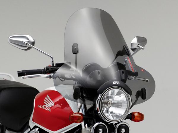 DAYTONA (デイトナ) バイク用 カウルスクリーン GIVI ジビ 大型ウインドスクリーン A650 セミスモーク H550mm×W615mm 93970