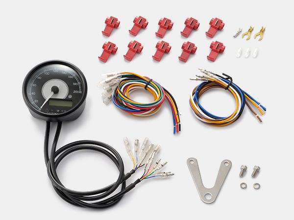 DAYTONA (デイトナ) バイク用 ミニメーター VELONA 電気式スピード&タコメーター φ80 200km/h ステンレスボディ ホワイトLED 95911