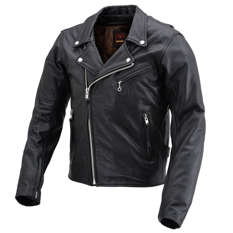 DAYTONA デイトナ バイク用 レザー ジャケット 2XLサイズ メンズ ブラック ダブルライダースジャケット 迅速な対応で商品をお届け致します 春秋冬 DL-003 SALE開催中 17816