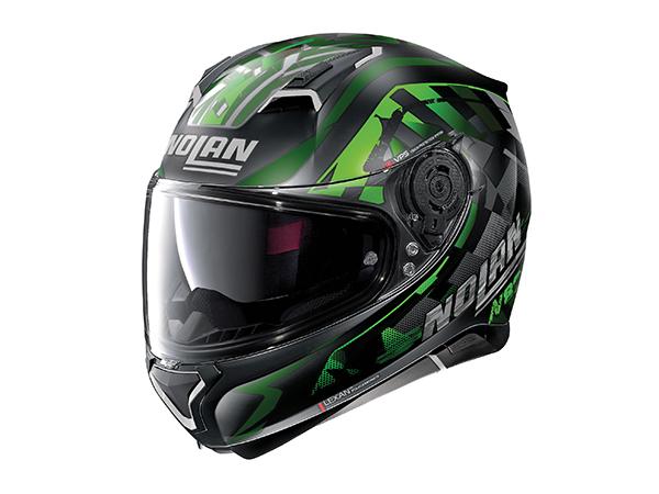DAYTONA (デイトナ) バイク用 ヘルメット NOLAN ノーラン N87 ベナター フラットブラック グリーン/92 XLサイズ (61~62cm) 16634
