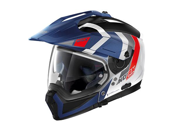 DAYTONA (デイトナ) バイク用 ヘルメット NOLAN ノーラン N702 X デクリオ メタルホワイト/フラットインペリアルブルー/33 Lサイズ (59~60cm) 16663
