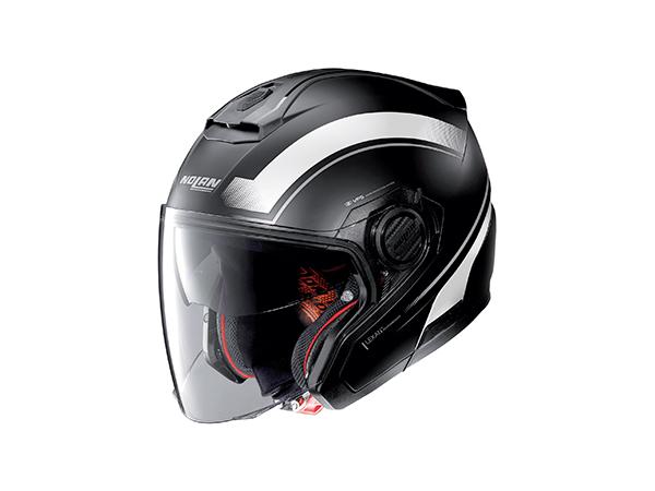 DAYTONA (デイトナ) バイク用 ヘルメット NOLAN ノーラン N405 リソリュート フラットブラック/ホワイト/16 Sサイズ (55~56cm) 16690