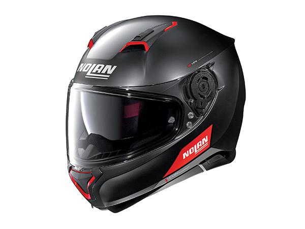 DAYTONA (デイトナ) バイク用 ヘルメット NOLAN ノーラン N87 エンブレマ フラットブラックレッド Sサイズ (55~56cm) 99308