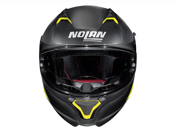 DAYTONA (デイトナ) バイク用 ヘルメット NOLAN ノーラン N87 エンブレマ フラットブラックイエロー Mサイズ (57~58cm) 99313