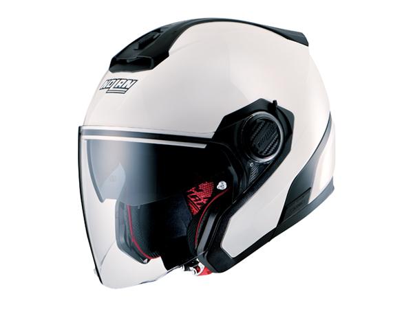 DAYTONA (デイトナ) バイク用 ヘルメット NOLAN ノーラン N405 ソリッド メタルホワイト Lサイズ (59~60cm) 99375