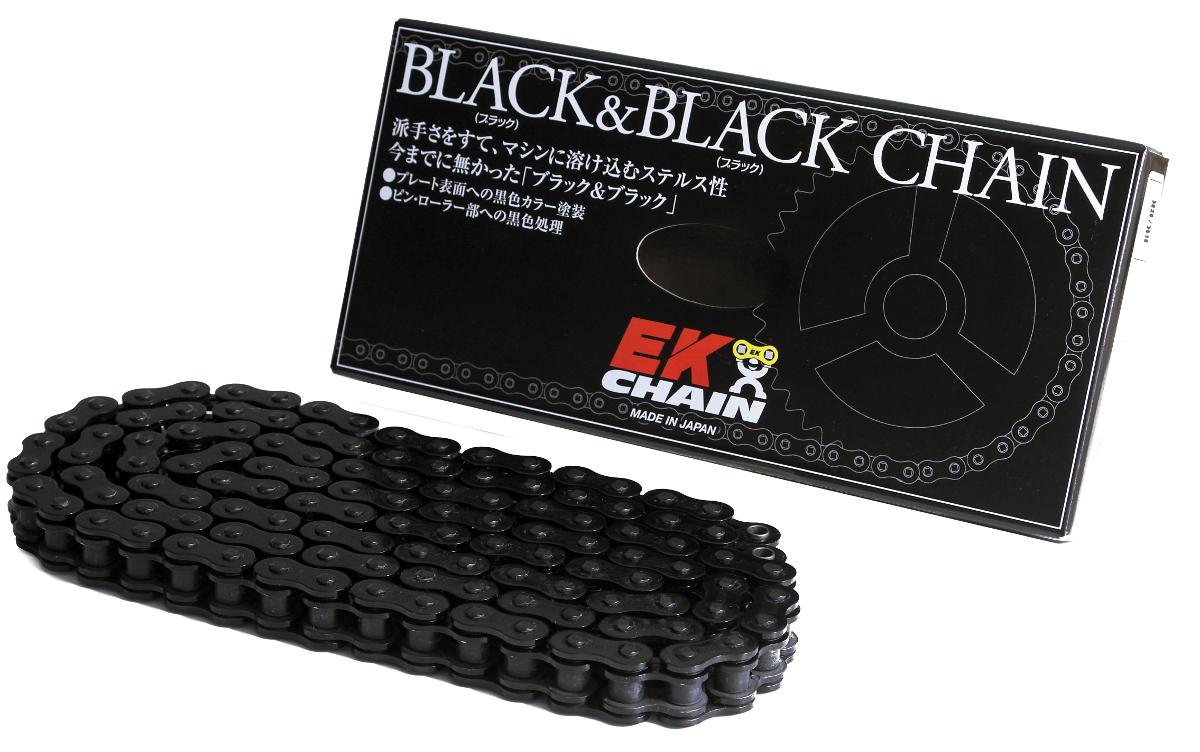 EKチェーン 江沼チェーン EK 激安卸販売新品 525SR-X2 ブラック MLJ 112リンク 品質保証